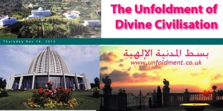 site unfoldment of civilisation divine
