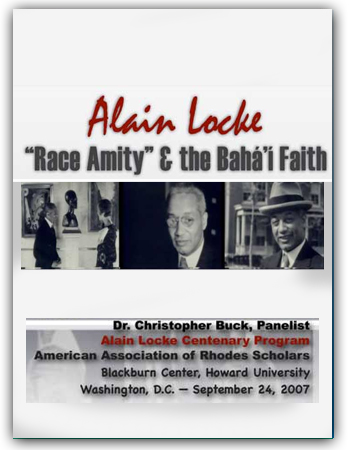 book alain locke race amity