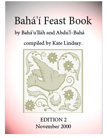 book bahai feast