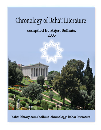 book chronology bahai literature