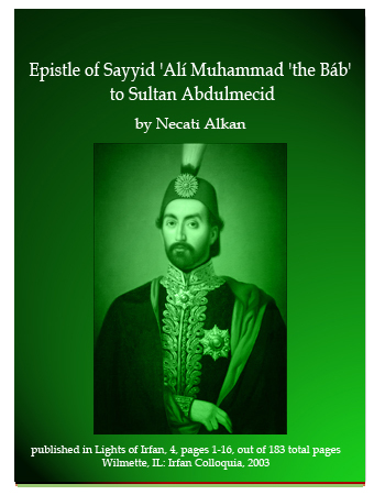 book epistle bab to sultan abdlmajid
