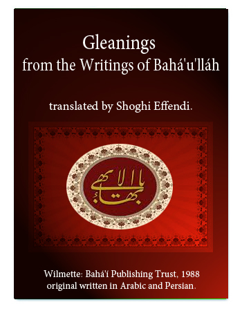 book gleanings from bahau'llah