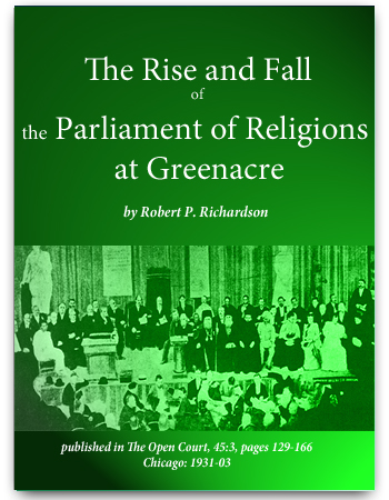 book parliament of religions