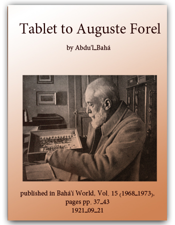book tablet to august forel