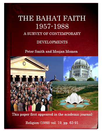 book the baha'i faith 1957-1988
