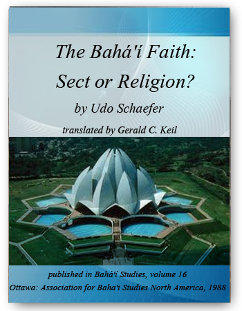 book the baha'i faith sect or religion