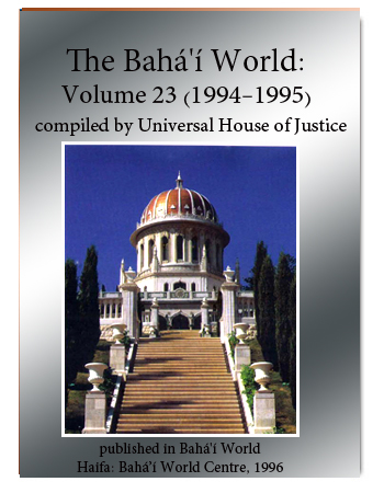 book the bahai world v23