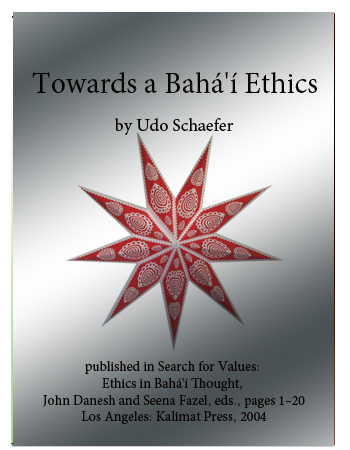 book towards bahai ethics