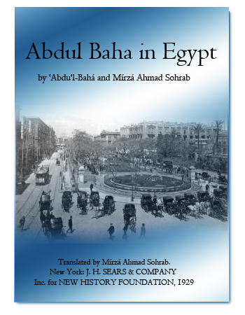 book abdul baha in egypt