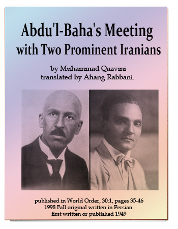 book abdul baha meeting two eminent