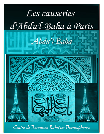 book causeries abdul baha paris