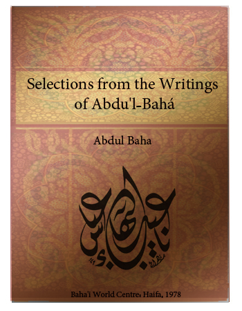 book selection from writings of abdul baha