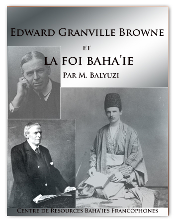 book EDWARD BROWN ET LA FOI BAHAI
