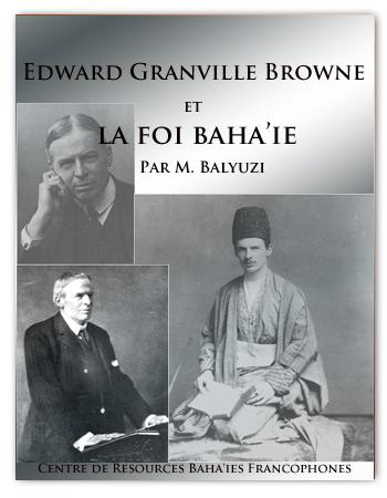 book EDWARD BROWN ET LA FOI BAHAI