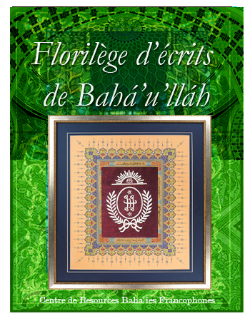 book florière d'écrits de Baha'ullah fr