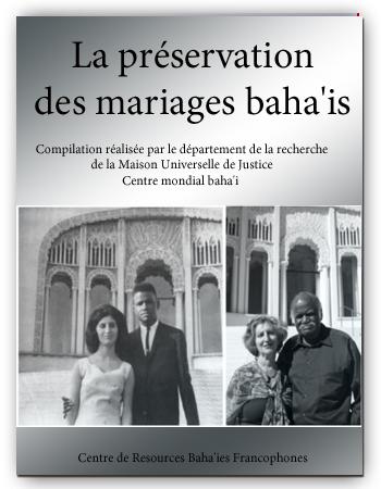 book préservation des mariages baha'i fr