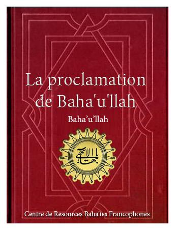 book proclamation de Baha'ullah fr