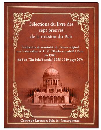 book séléction des sept peuve du bab