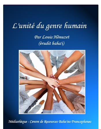 book unité genre humain
